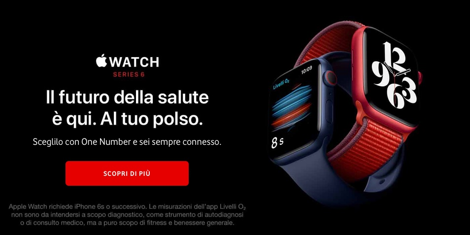 Vodafone Onenumber Offerta Per Apple Watch Vodafone