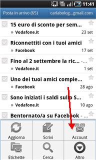 Configura email su smartphone Android - Privati - Vodafone