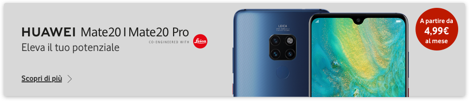 Huawei Mate 20 con Vodafone Unlimited RED +